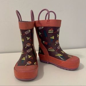 Kamik Handle Toddler Girls Popsicle Rain Boots in EUC Size 5